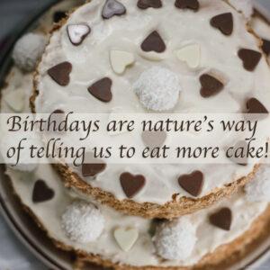 Birthday funny cake quote