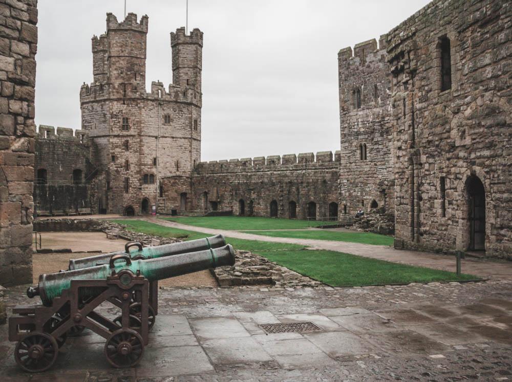 Eagle tower at Caernarfon castle