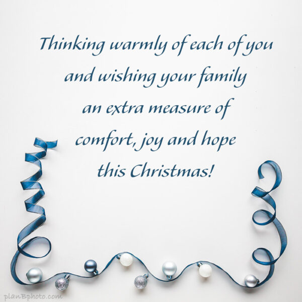 Warm Christmas family wish