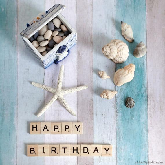 Sea themed happy birthday image