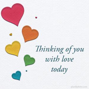 Thinking of you Valentines image