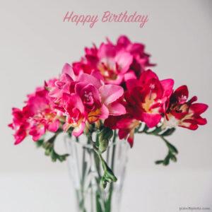 Pink fresia flower bouquet
